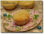 Muffinki migdałowe z budyniem
