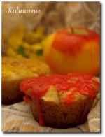 Muffiny waniliowe z jabłkami