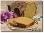 Ciasto cytrynowe z migdałami i cytrynowym lukrem